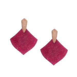 NWT Kendra Scott rg maroon jade Astoria earrings